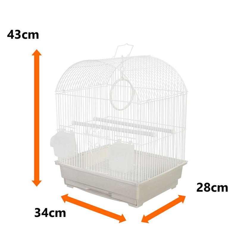 KCT Rosario Small Exotic Bird Travel Cage - White
