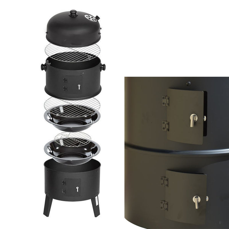 KCT 3 in 1 Upright BBQ Smoker and Grill