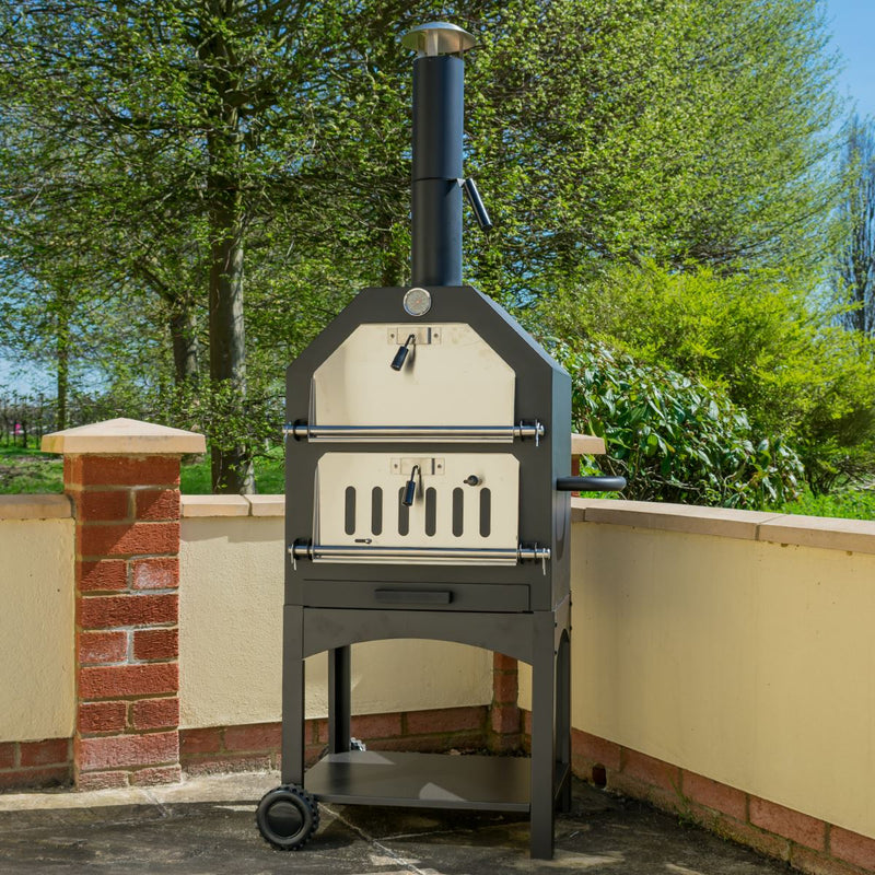 KCT Outdoor Wood Fired Pizza Oven with Tool Set