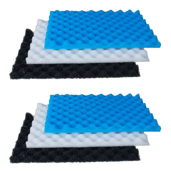 Twin Pack - 3-Piece Filter Foams - 11'' x 17''
