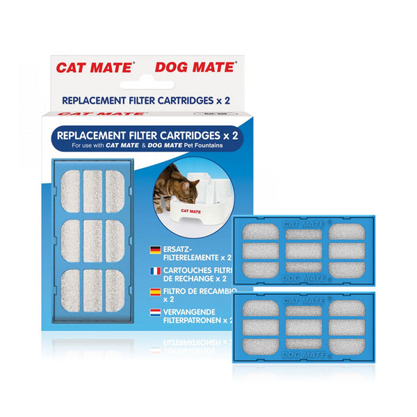 Replacement Carbon Filter Cartridges for Pet Mate Water Fountain
