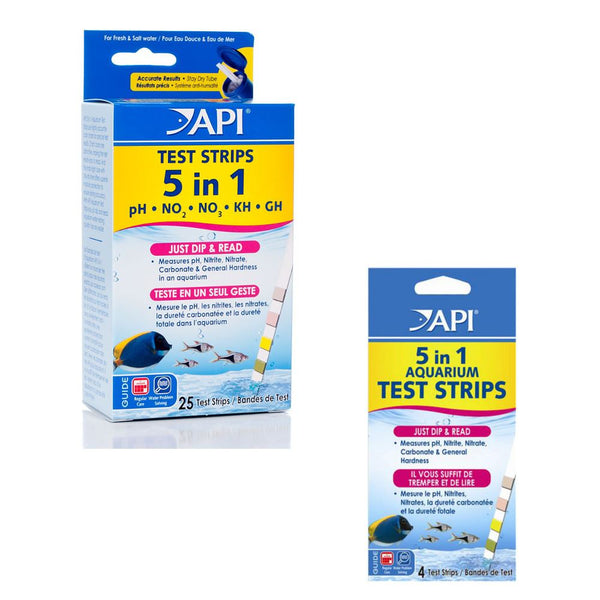 API Aquarium 5 in 1 Test Strip Kits
