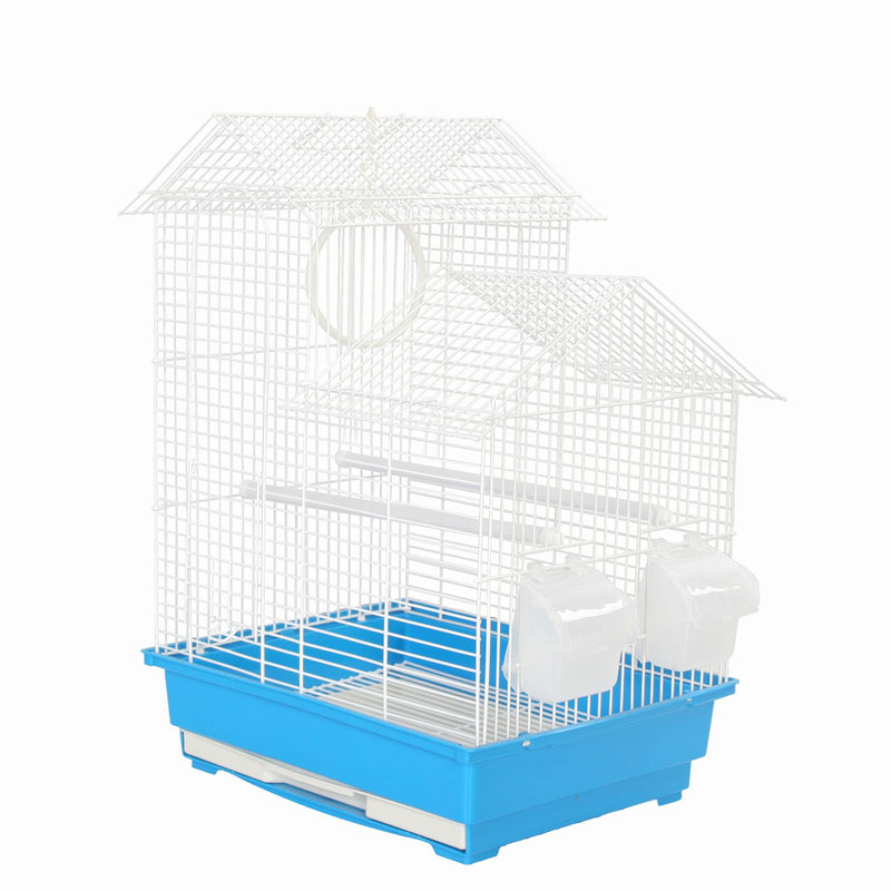 KCT Santiago Small Exotic Bird Travel Cage - Blue