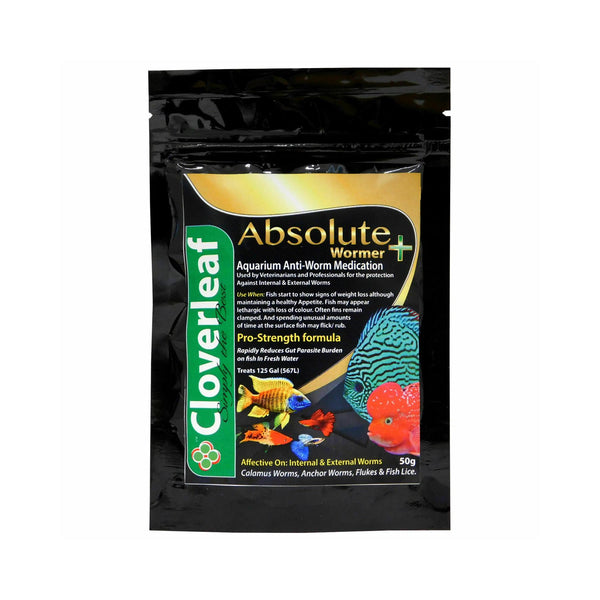 Cloverleaf Absolute + Wormer 50g Aquarium Fish Medication
