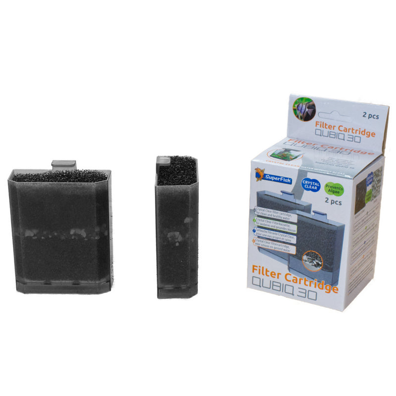 SuperFish Qubiq Aquarium Replacement Filter Cartridges - 2 Pack