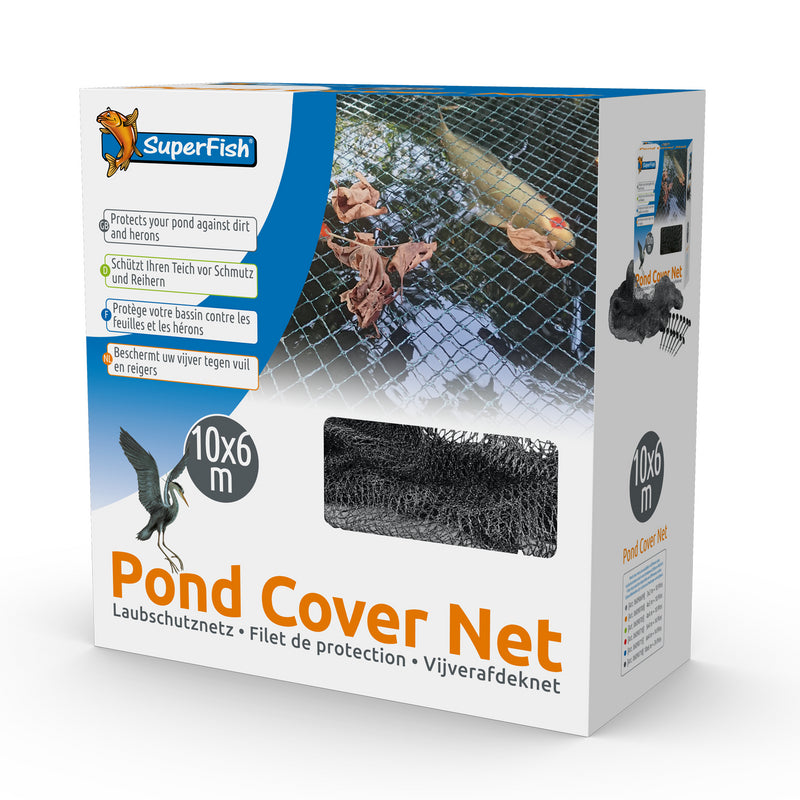 SuperFish Pond Protective Cover Net with Pegs