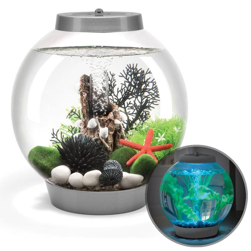 Baby biOrb 15L Silver Aquarium with MCR LED Lighting
