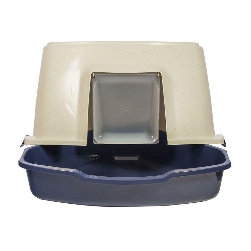 Corner Enclosed Hooded Cat Litter Box