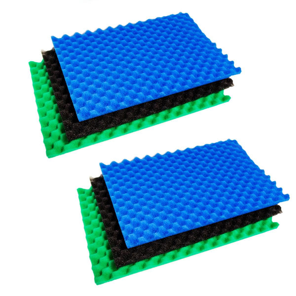 Twin Pack - 3-Piece Filter Foams - 18'' x 25''