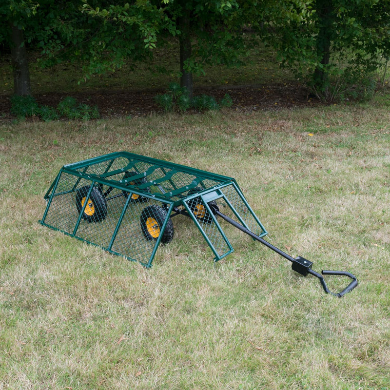 KCT Extra Large Heavy Duty Garden Trailer with Lining