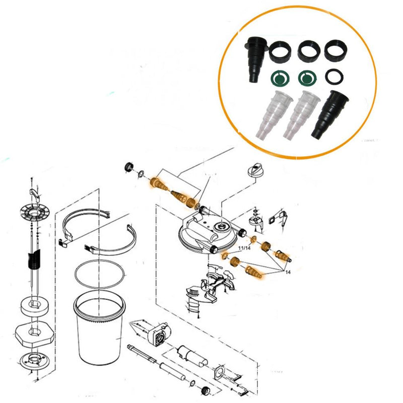 Oase - Part - 34561 Replacement Hosetail Set for FiltoClear 3000 - 15000