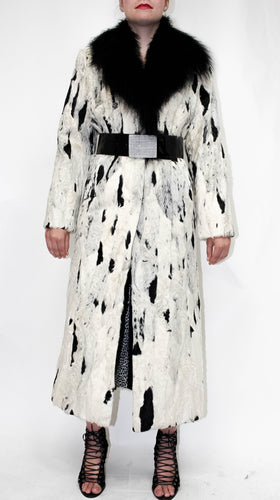 Charmante Black & White Coat