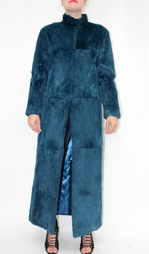 Turqoise Fur Coat