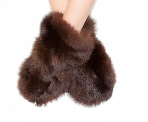 Deep Brown Mittens
