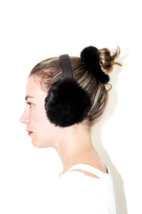 Black Mink Ear Muffs