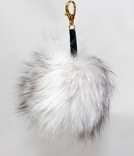 Angel White fox fur charm