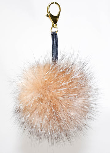 Dahlia fox fur Purse Charm