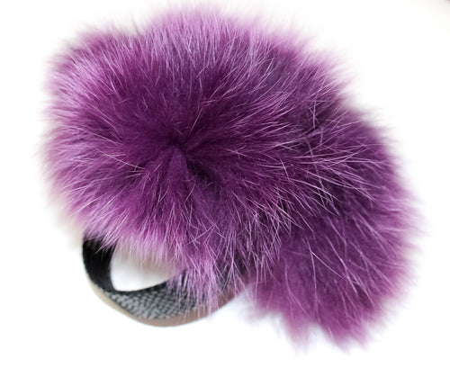 Purple Fur Ear Muff