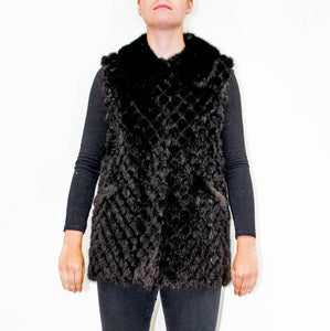 Laura Sleeveless Mink Vest