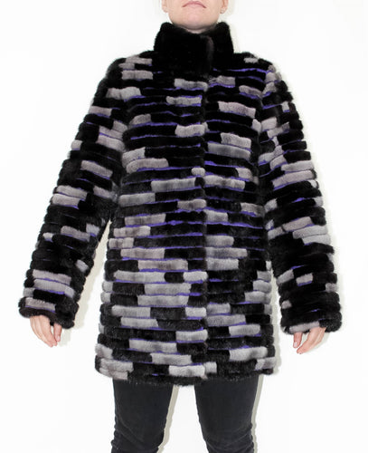 Zigzag Fur Jacket