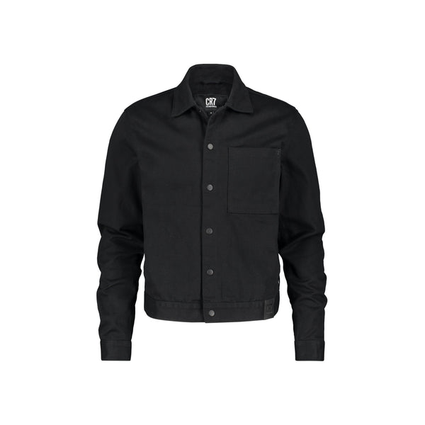 BLACK DENIM WORKER JACKET - CR7 Cristiano Ronaldo