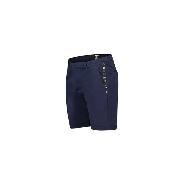 CHINO SHORT IN NAVY COTTON STRETCH TWIL - CR7 Cristiano Ronaldo