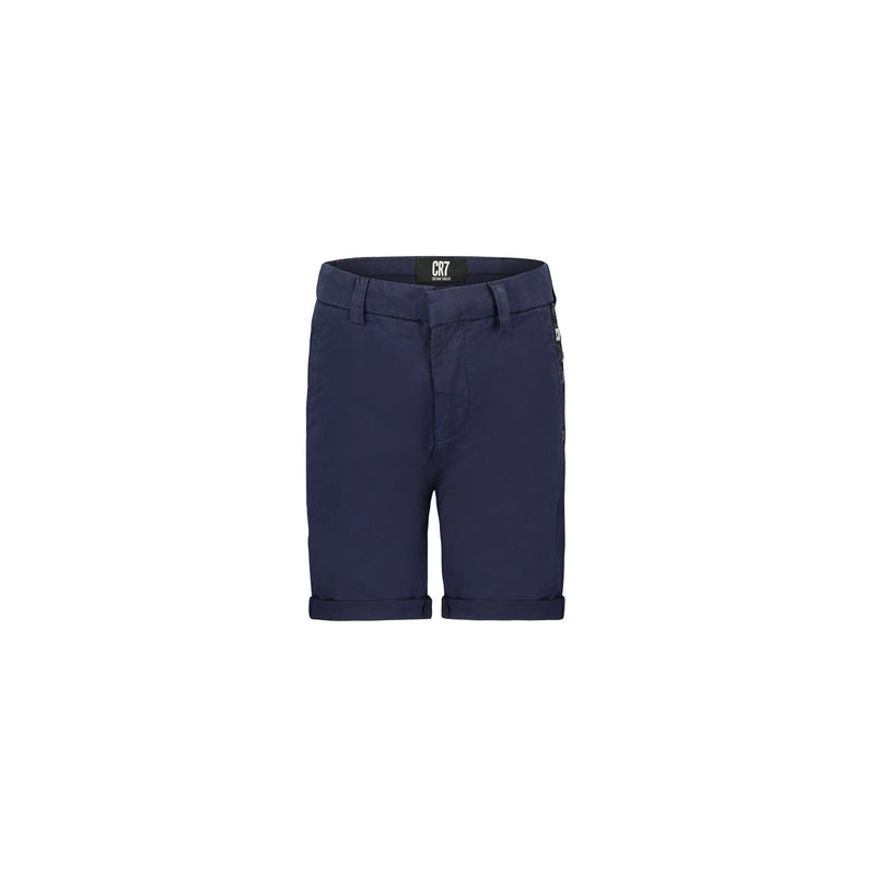 CHINO SHORTS IN NAVY COTTON STRETCH TWIL - CR7 Cristiano Ronaldo