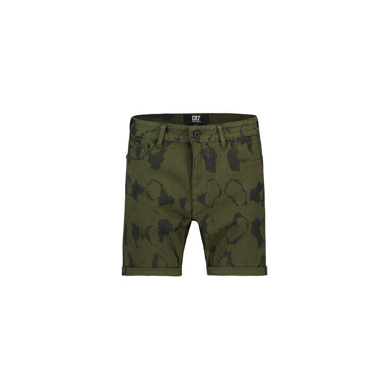 COLOURED SLIM FIT SHORTS WITH CAMOUFLAGE PRINT - CR7 Cristiano Ronaldo