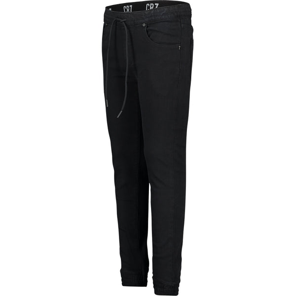 JOGGER 5-POCKET PANTS IN BLACK STRETCH DENIM - CR7 Cristiano Ronaldo