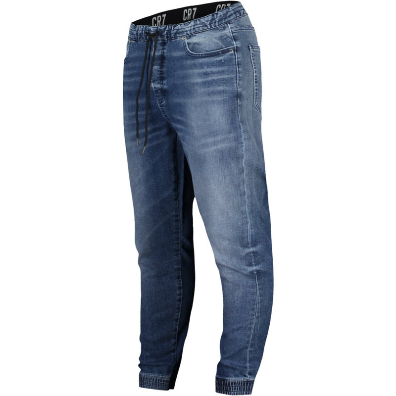 JOGGER 5-POCKET PANTS IN KNIT LOOK DENIM - CR7 Cristiano Ronaldo