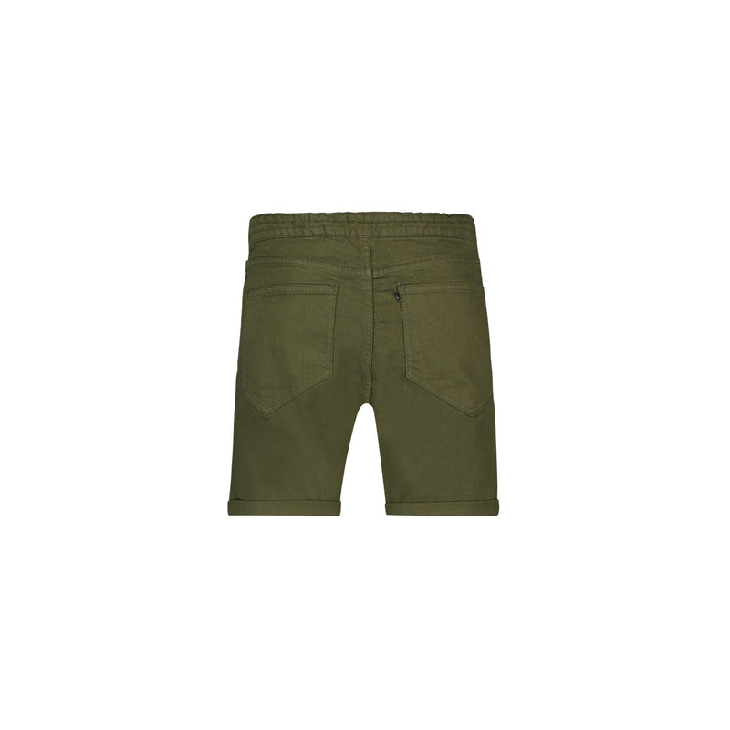 JOGGER 5-POCKET SHORTS IN MILITARY GREEN STRETCH DENIM - CR7 Cristiano Ronaldo