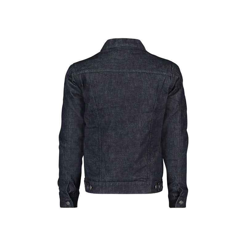 Padded trucker jacket in rinse indigo rigid denim - CR7 Cristiano Ronaldo