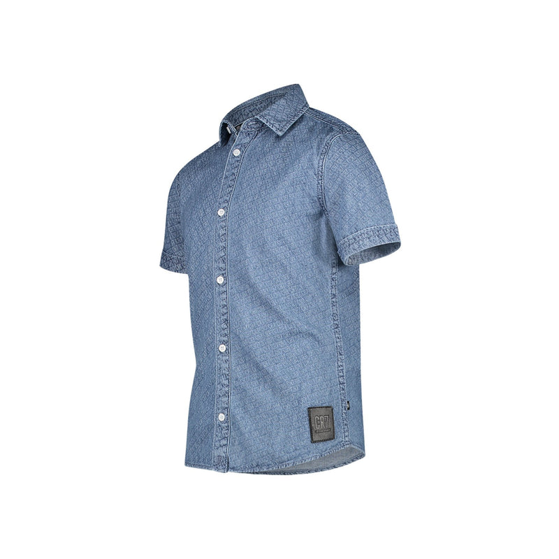 REGULAR FIT DENIM SHORT SLEEVE SHIRT - CR7 Cristiano Ronaldo
