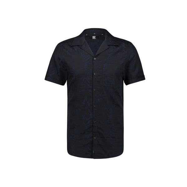 REGULAR FIT FLORAL JACQUARD SHORT SLEEVE SHIRT - CR7 Cristiano Ronaldo
