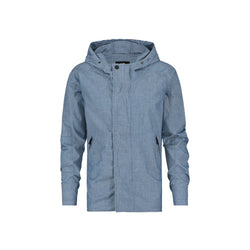 REGULAR FIT HOODED CHAMBRAY JACKET - CR7 Cristiano Ronaldo