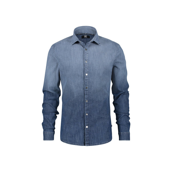 REGULAR FIT SHIRT IN INDIGO DENIM WITH DEGRADE EFFECT - CR7 Cristiano Ronaldo