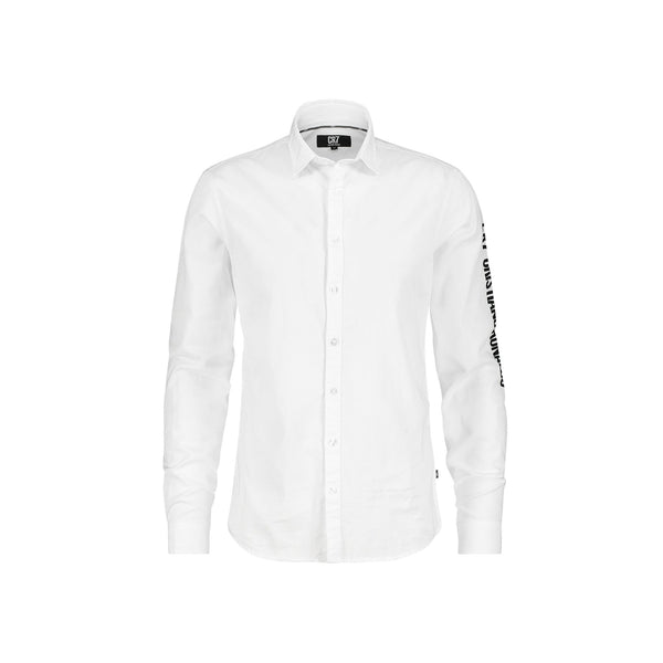 REGULAR FIT SHIRT IN WHITE COTTON - CR7 Cristiano Ronaldo