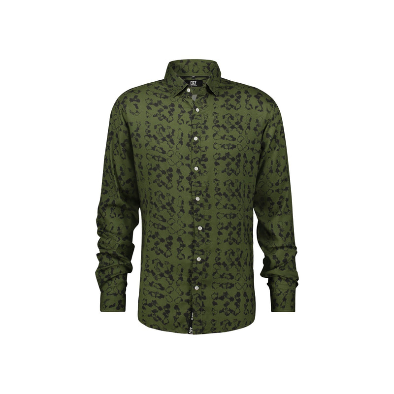 REGULAR FIT SHIRT WITH CAMOUFLAGE PRINT - CR7 Cristiano Ronaldo
