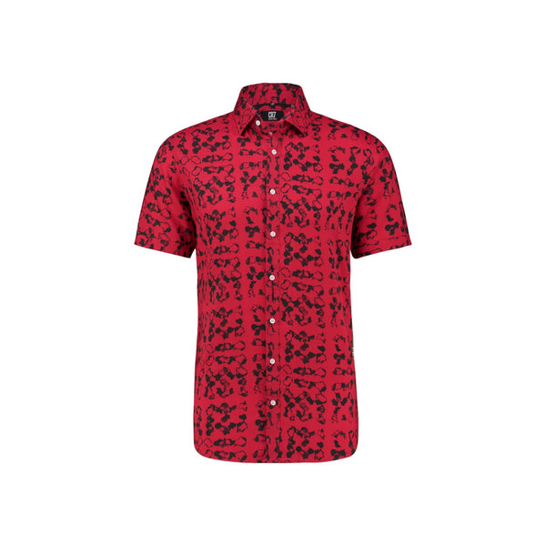 REGULAR FIT SHORT SLEEVE SHIRT WITH CAMOUFLAGE PRINT - CR7 Cristiano Ronaldo