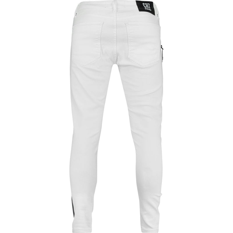 SKINNY FIT JEANS IN BRIGHT WHITE STRETCH DENIM - CR7 Cristiano Ronaldo