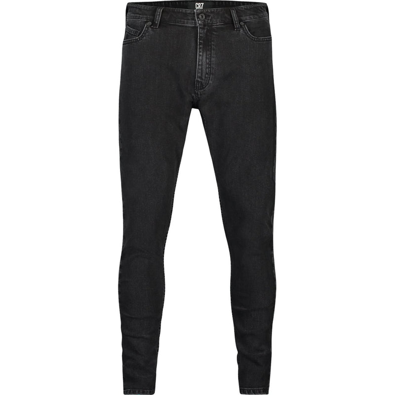 SKINNY FIT JEANS IN FADED BLACK STRETCH DENIM - CR7 Cristiano Ronaldo
