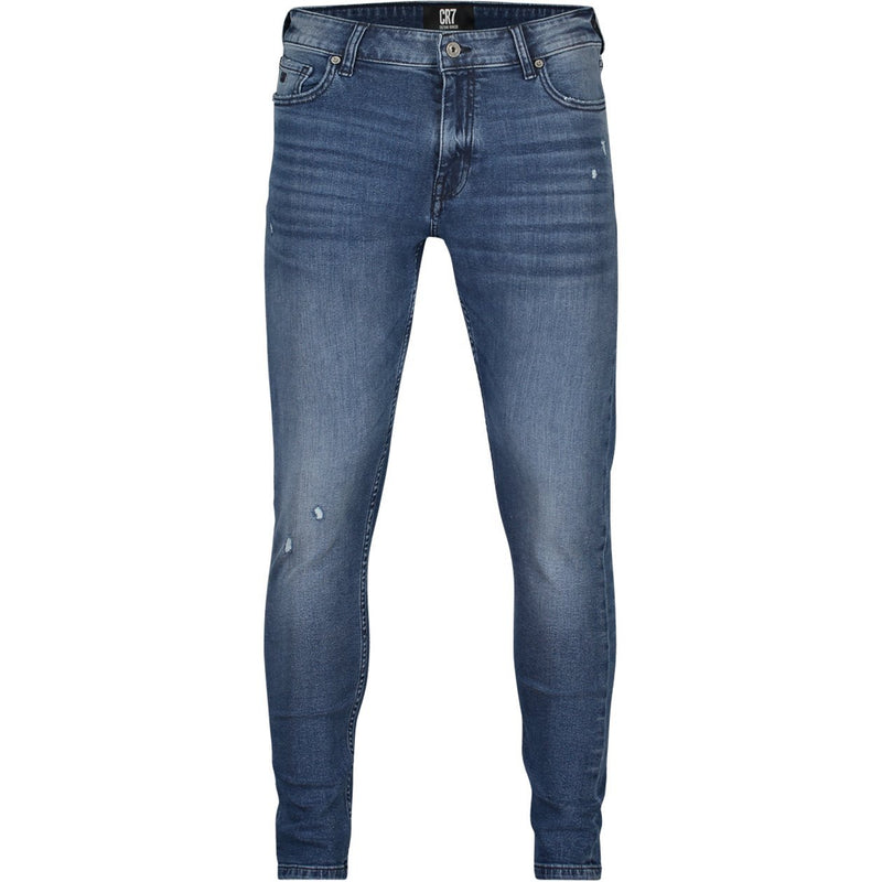 SKINNY FIT JEANS IN MID BLUE STRETCH DENIM - CR7 Cristiano Ronaldo