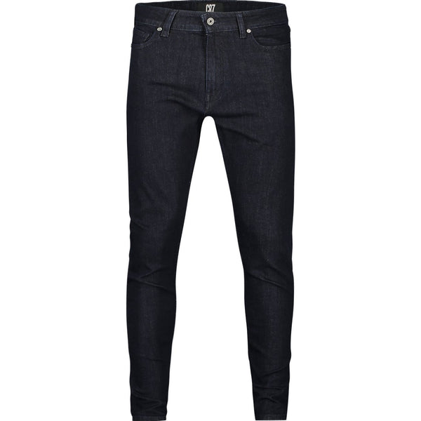 Skinny fit jeans in rinse indigo stretch denim - CR7 Cristiano Ronaldo
