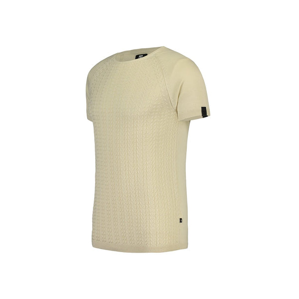Slim fit cable structured short sleeve pullover - CR7 Cristiano Ronaldo