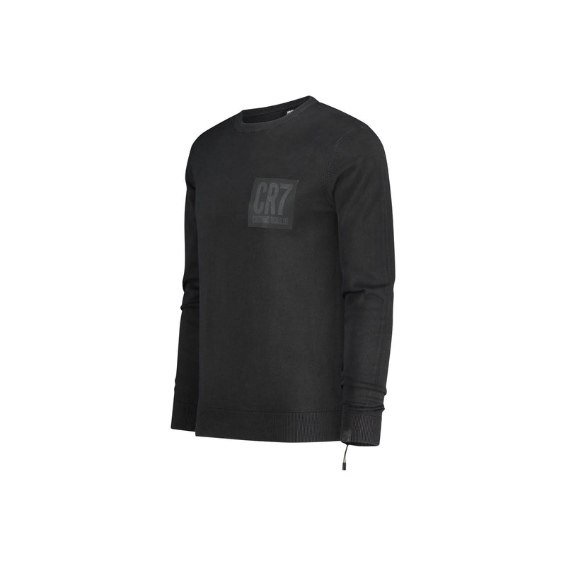 SLIM FIT CLASSIC CREW NECK PULLOVER IN BLACK - CR7 Cristiano Ronaldo