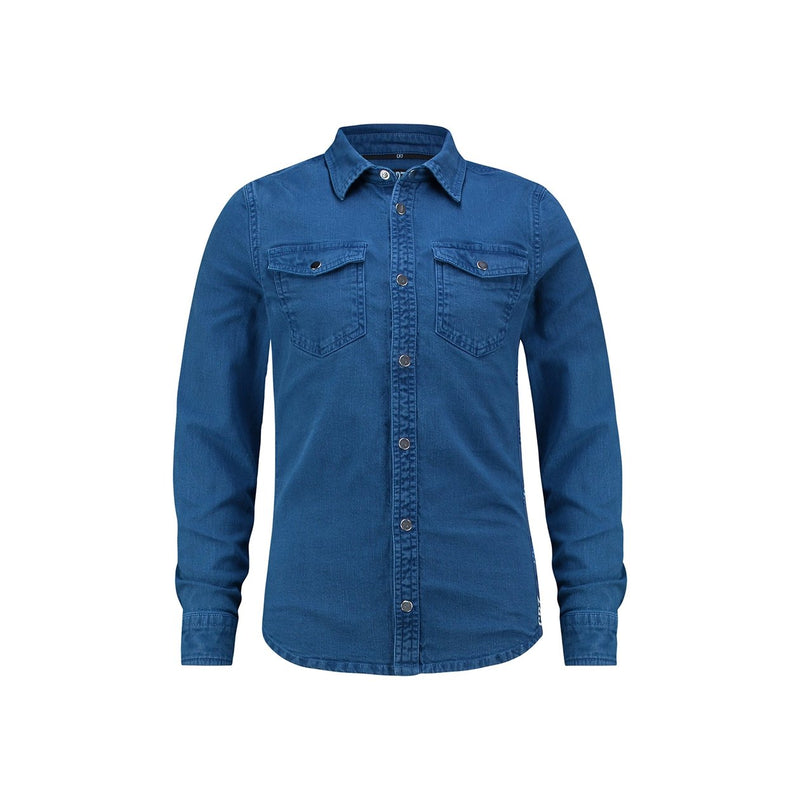 Slim fit denim overdye shirt - CR7 Cristiano Ronaldo