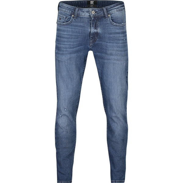 Slim fit jeans in dark indigo stretch denim - CR7 Cristiano Ronaldo