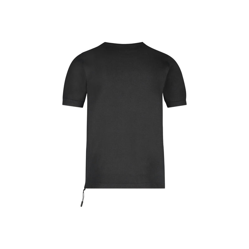 SLIM FIT SHORT SLEEVE CREW NECK PULLOVER IN BLACK - CR7 Cristiano Ronaldo