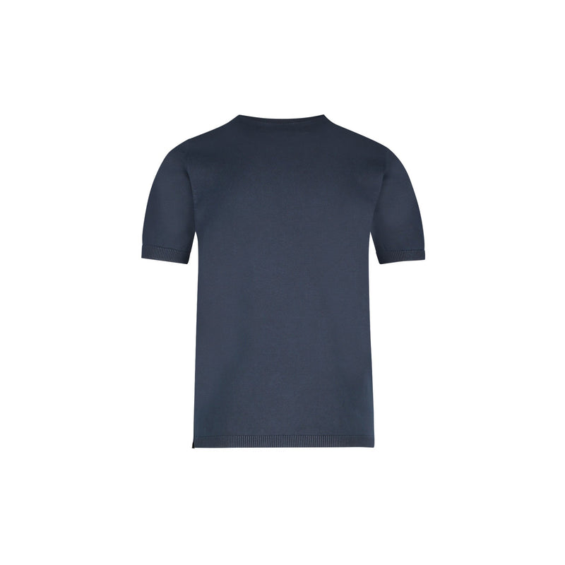 SLIM FIT SHORT SLEEVE CREW NECK PULLOVER IN NAVY - CR7 Cristiano Ronaldo