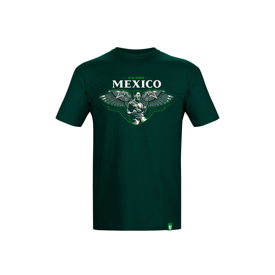 Mexico Si Se Puede T-Shirt Aztec Soccer Warrior by UltimateFan